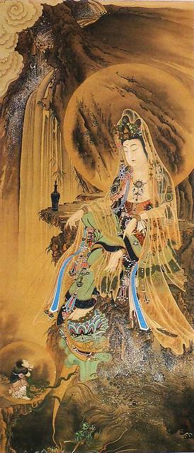 河鍋暁斎「観世音菩薩図」(明治時代)
