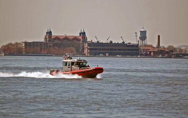 Speeding by Ellis Island