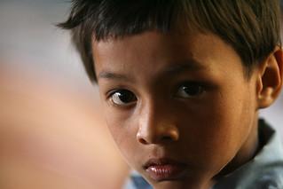 Young boy at Shreeshitalacom Lower Secondary School, Kaski, Nepal   by World Bank Photo Collection