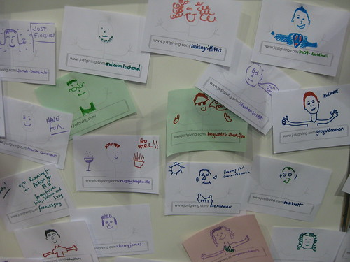 Our fundraiser wall of fame! | by JustGiving