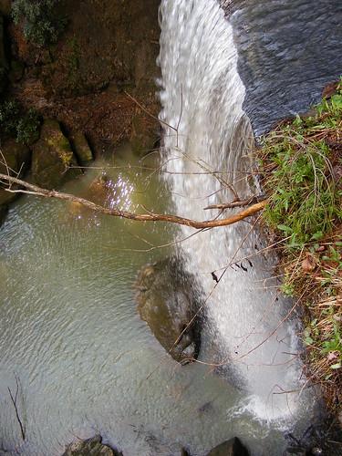 waterfall spring sandstone view kentucky ky leg scenic falls broke brokelegfalls