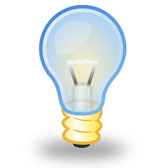 Light bulb made with Inkscape | by michiwend