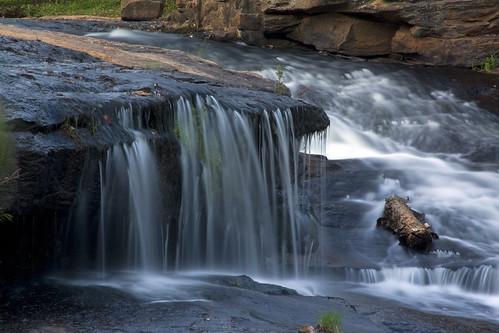 longexposure sc waterfall log rocks downtown southcarolina cascade greenville fallspark reedyriver reedyriverfalls davidhopkinsphotography