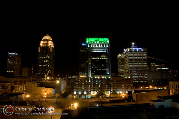 Another View of downtown Louisville, Kentucky at night