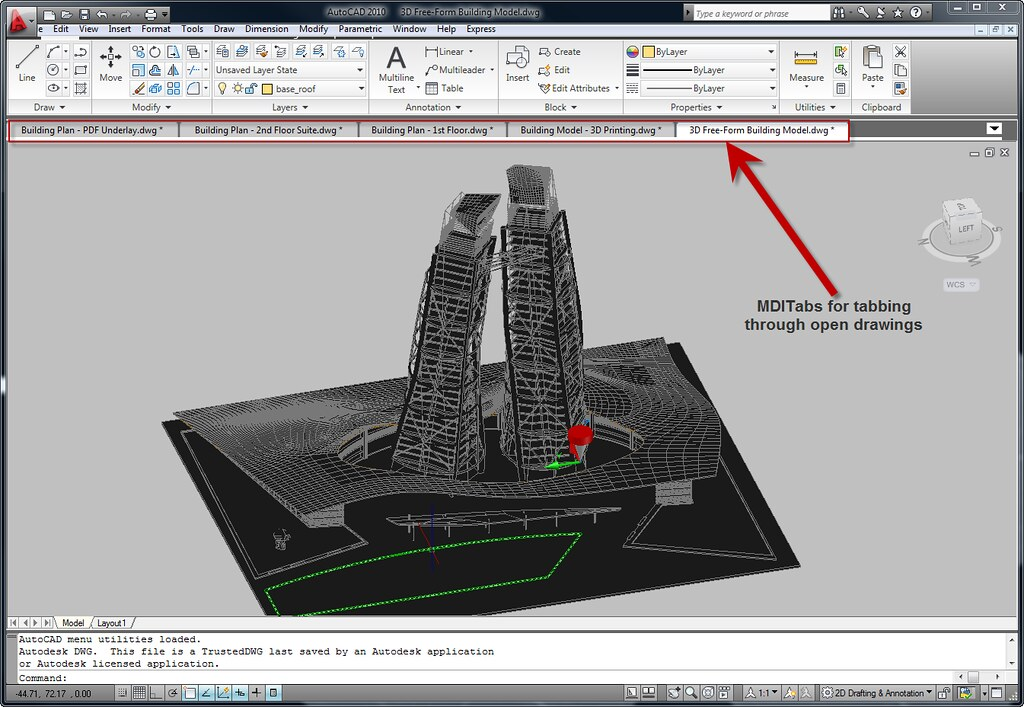 AutoCAD 2010 and Bonus Tool Drawing Tabs MDITabs | The free … | Flickr