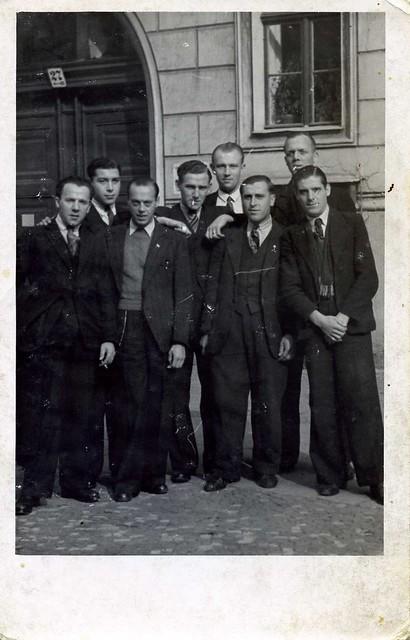 (Dutch ?) POW's (Prisoners Of War) in Germany (Berlin) during WW II , appr. 1944
