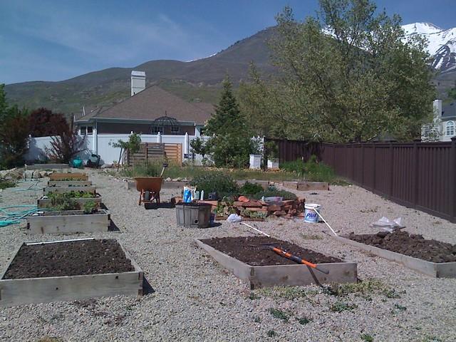 Garden being planted