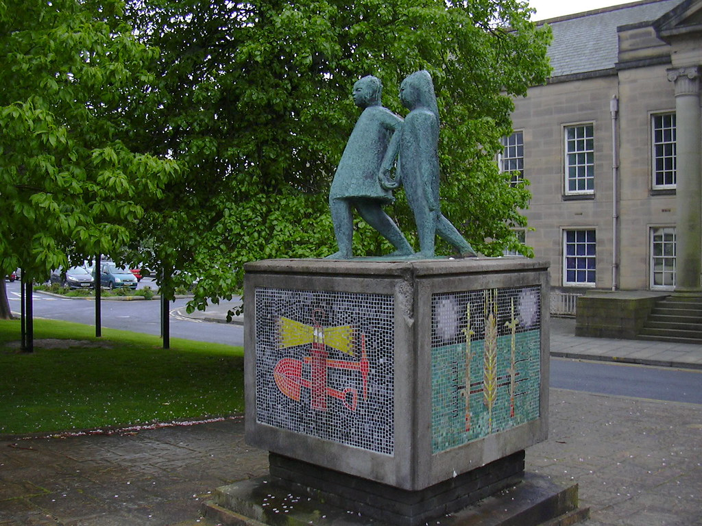 Image result for burnley statue children looking into the future