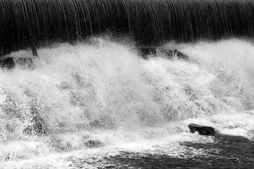blackandwhite nature water waterfall
