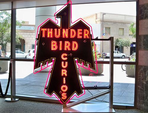 Thunderbird Curios neon sign