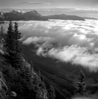 Ocean of clouds seen from Jasper Palisade, Jasper National Park | by Provincial Archives of Alberta