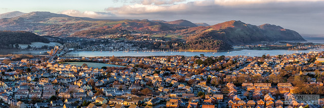 Winter view of Conwy Estuary, Wales, UK.