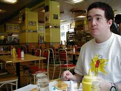 Chris at Ben's Delicatessen, Montreal