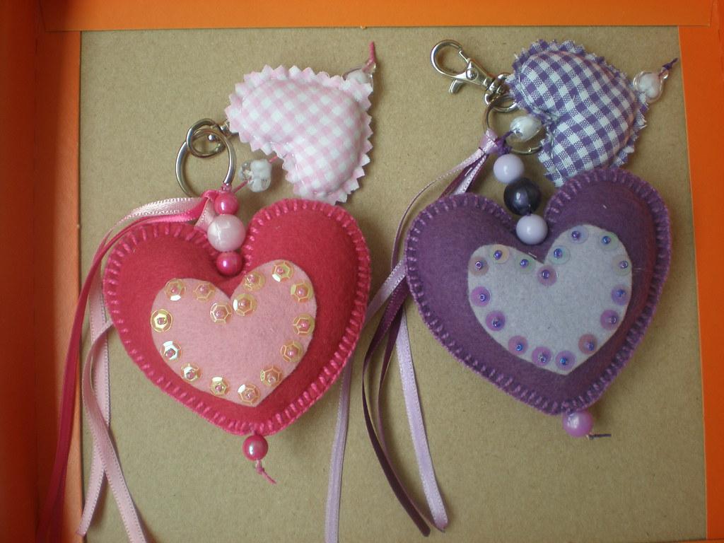 Chaveiro feltro coração   Marlete I Fiamoncini Wachholz   Flickr