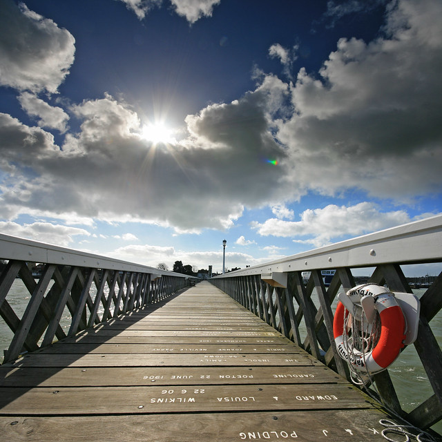 UFO (unidentified flare object) over Yarmouth Pier, Isle of Wight, UK