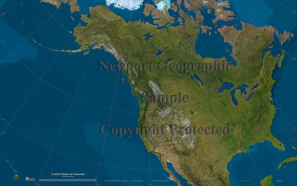 United States of America (Physical - enhanced): 1004-11_04 ...