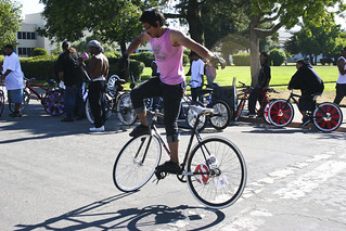 Track bike Tricksters out front of Oakland BFF | by Incase.