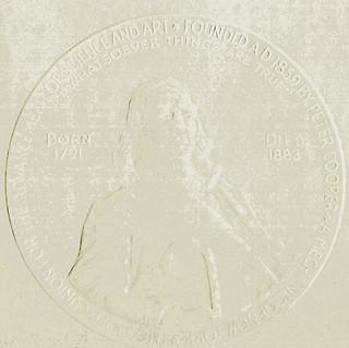 embossed Peter Cooper seal on diploma 1982