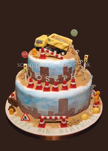 Superb Birthday Cake 455 Construction Site Paula Jane Bourke Flickr Funny Birthday Cards Online Alyptdamsfinfo