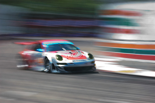 ALMS Acura Sports Car Challenge of St. Petersburg 2009 - Flying Lizard Porsche 911 GT3 RSR   by James Boone