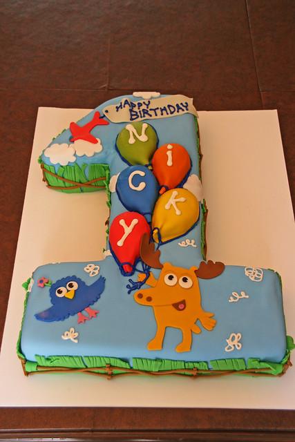 Moose & Zee First Birthday Cake - Nicky