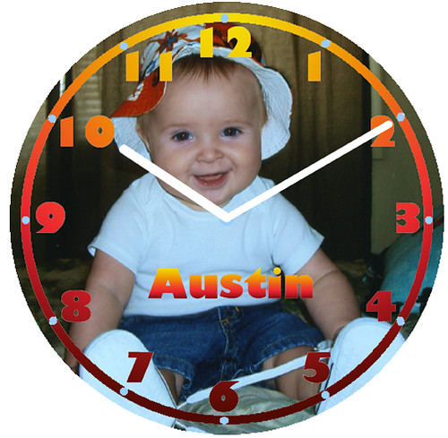 Austin Vacation Clock | by customclockface