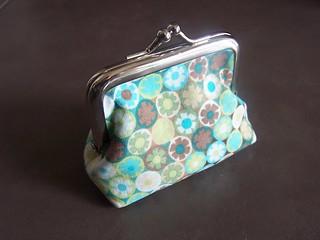 teeny coin purse in Sandra Banava fabric..