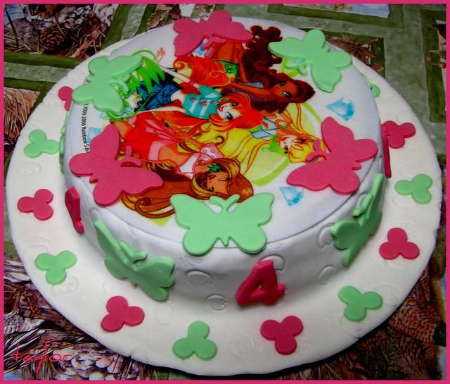 Fondant Butterfly Cake