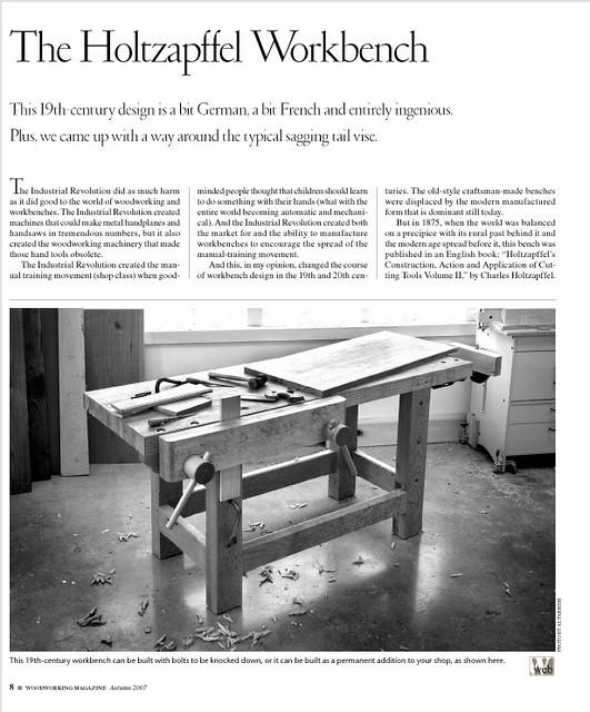 Holtzapffel Workbench Popular Woodworking Magazine Flickr