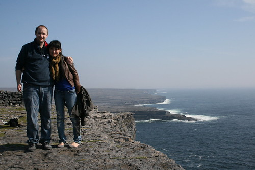 Fran And  Me on the Cliff