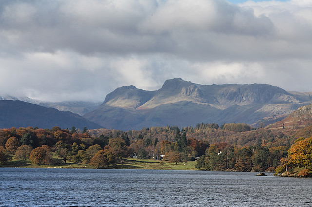 Langdale from Waterhead, Ambleside, in the Lake District National Park, UK