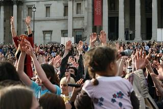 T mobile, Karoke, 30th April 2009 - Trafalgar Square