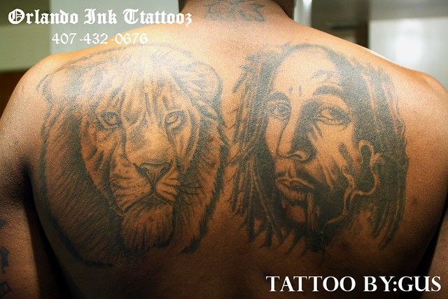 bob marley, lion tattoo | Orlando Ink Tattoos | Flickr