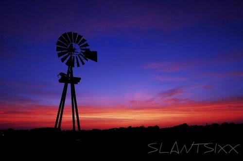 sunset windmill texas
