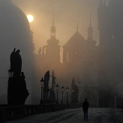 bridge sunrise bravo prague charles praha masterpiecesoflightdark