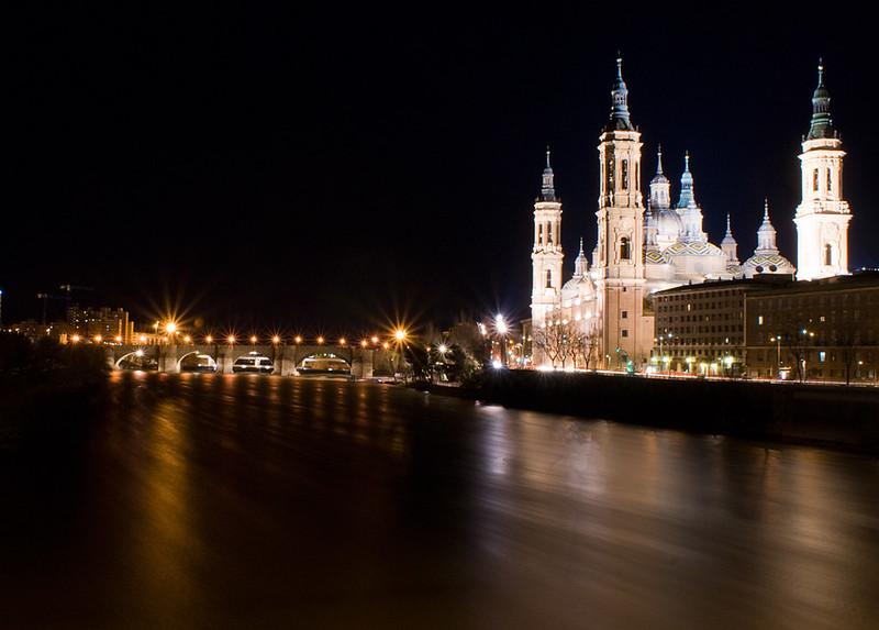 El Ebro de noche / The Ebro at night