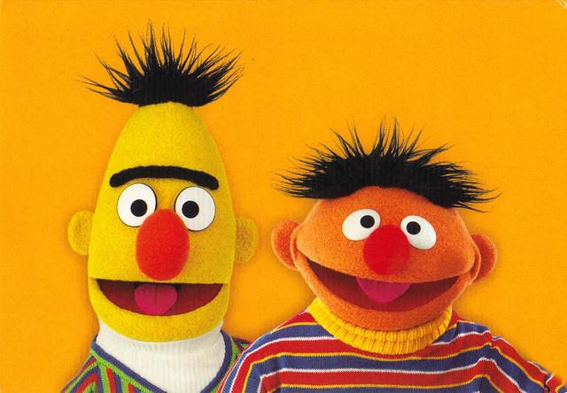 Ernie & Bert Postcard