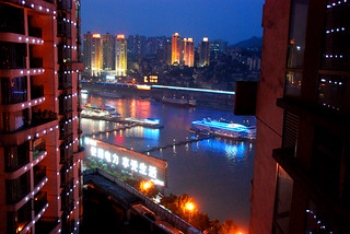 view from my aunt's apartment at night, chongqing | by hopemeng