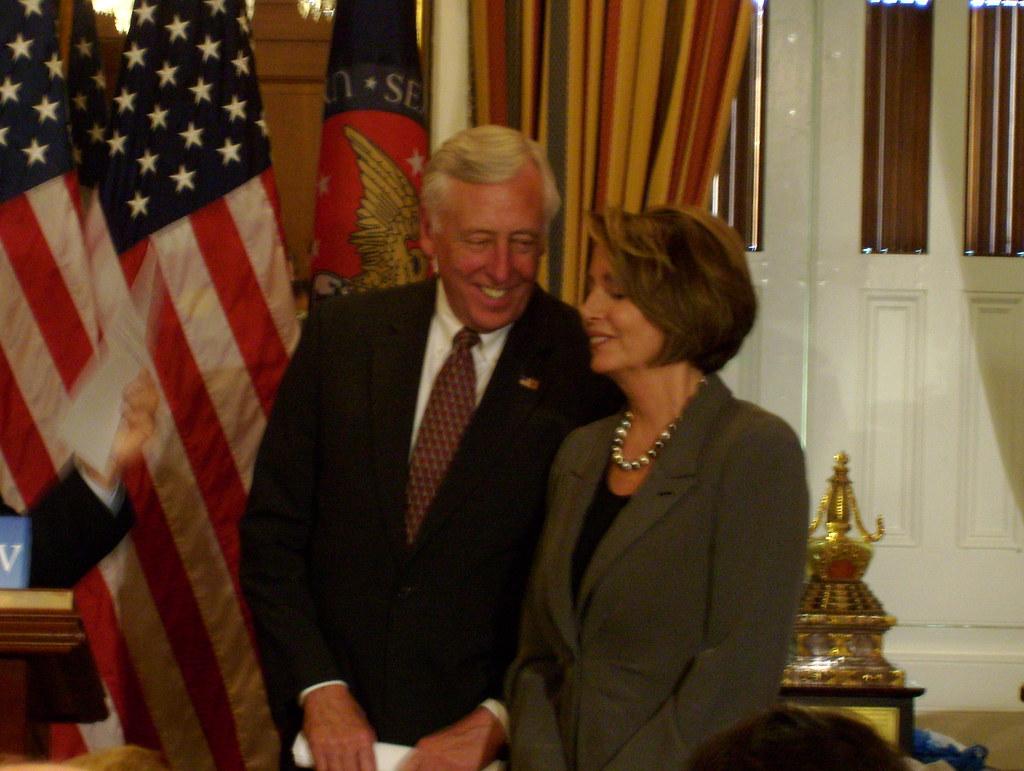 Steny Hoyer and Nancy Pelosi