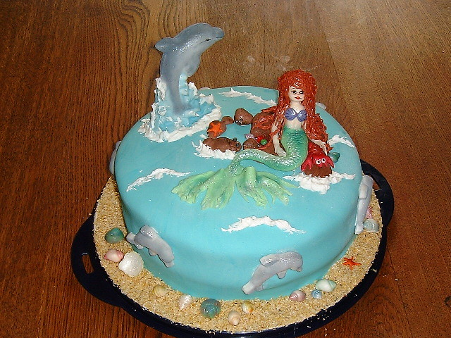 Mermaid Dolphin Cake