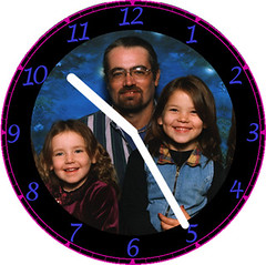 Dad & Girls Family Clock | by customclockface