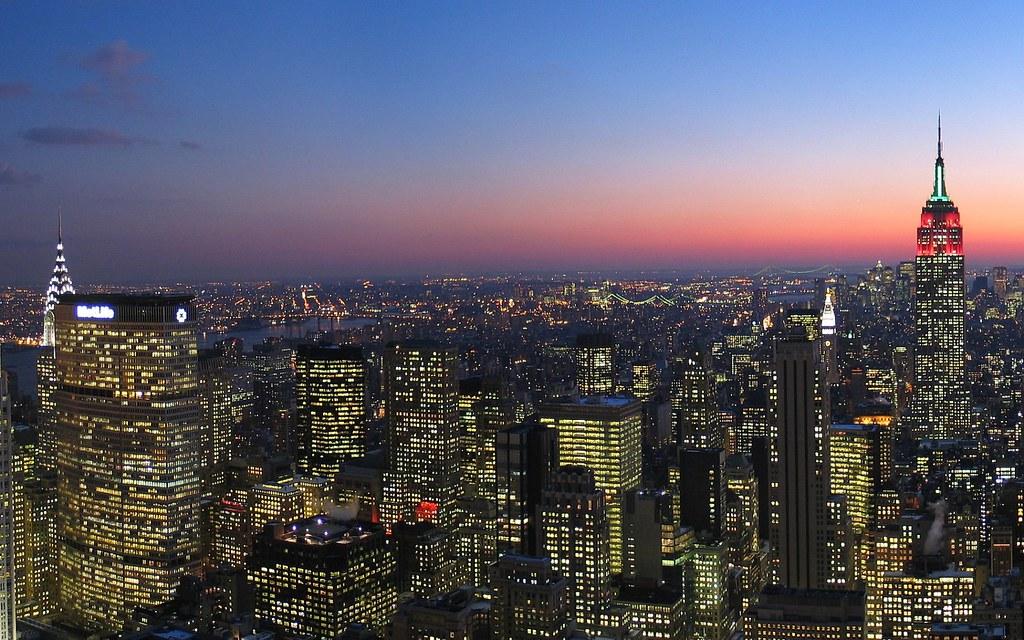 Skyline New York City New York From Rockefeller Center A Flickr