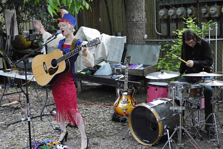 Performing at the Greater Austin Garbage Arts