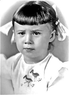 Zenaide aos 5 anos.