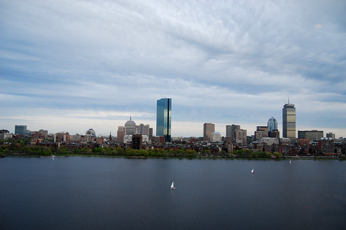 View of Boston Across the Charles in the Evening   by Rachel Ford James