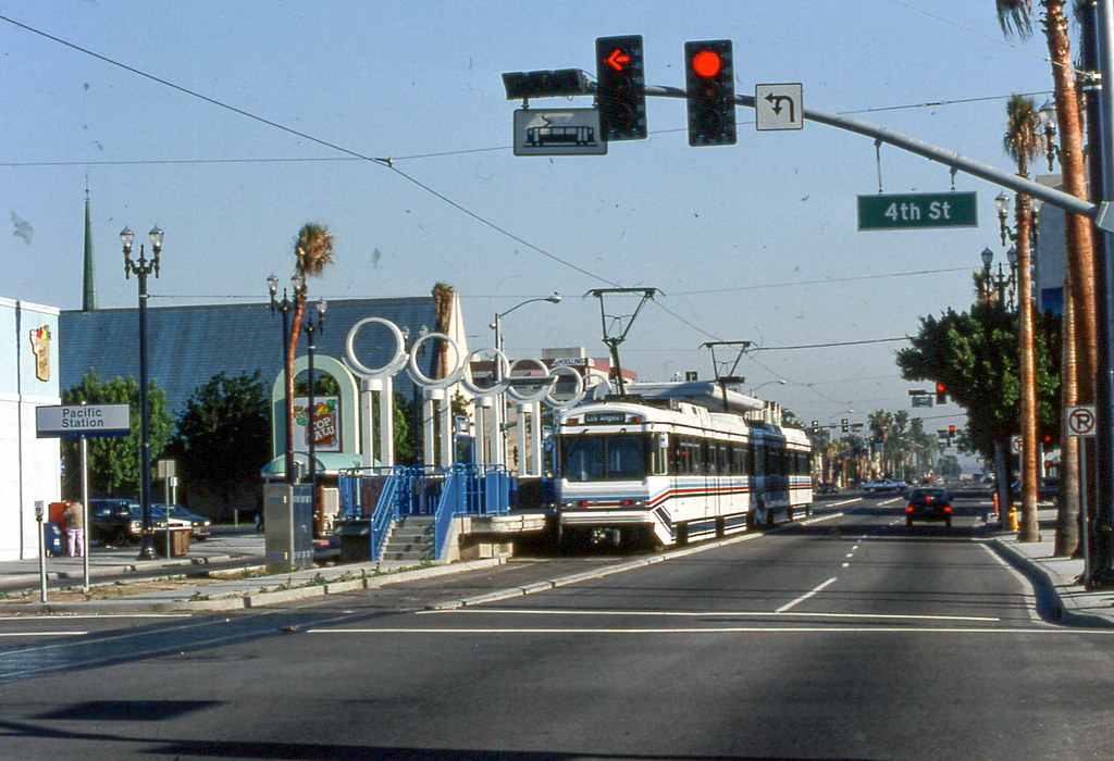 19910328 04 RTD Light Rail Long Beach, CA | David Wilson