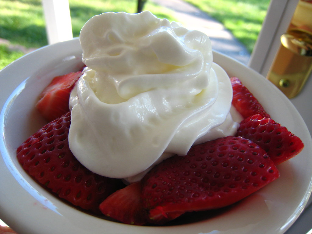 strawberries & fat-free whipped cream | ....Heavenly! | Barb ...