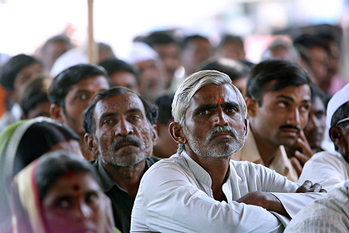 Men in community meeting India | by World Bank Photo Collection
