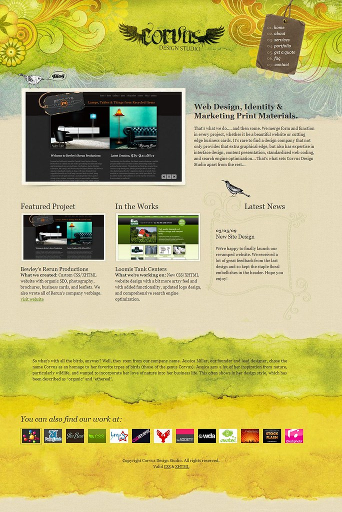 Corvus Design Studio Is A Web Design And Graphic Art Studi Flickr
