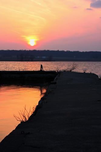 sunset ohio abandoned canon eos pier kiss kitlens medina digitalrebel hdr xsi x2 450d chippewalakepark